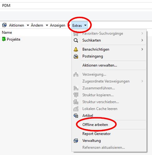 solidworks-pdm-wechsel-in-den-offline-modus